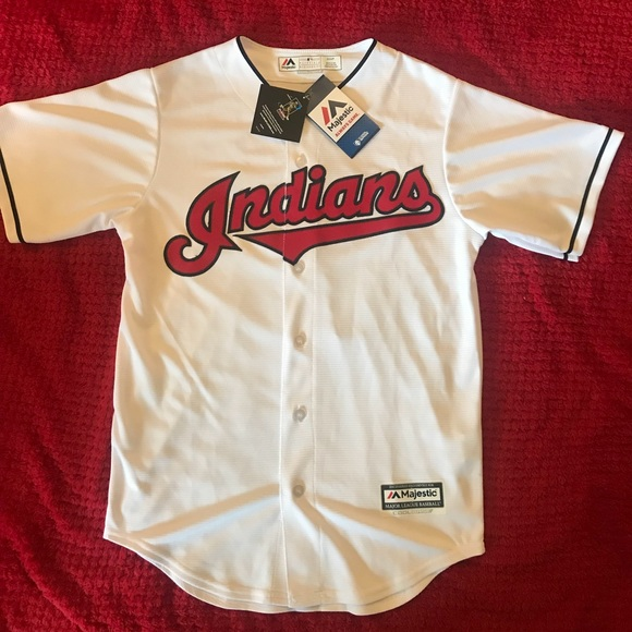 premium selection 1a9fd 0a1af Cleveland Indians Francisco Lindor Jersey NWT